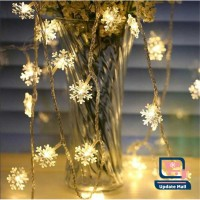 Lampu Hias Led Strip Tumblr Gantung Salju Snow Flakes Natal 20 LED