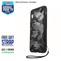 Ringke iPhone Xr Fusion X Camo Black Softcase Anti Crack Military Bump