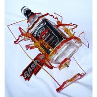 Botol Oli Samping RX King JD Kotak Variasi Akrilik Tebal Mulus Merah
