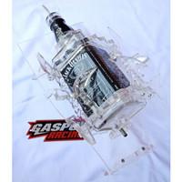 Botol Oli Samping RX King JD Kotak Variasi Akrilik Tebal Hitam Bening
