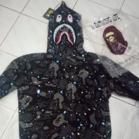 Jual hoodie bape shark space galaxi kw BUKAN KALENG Diskon