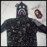 Unik Hot Sale Hoodie Bape Shark Space Galaxi Kw Bukan Kaleng Murah