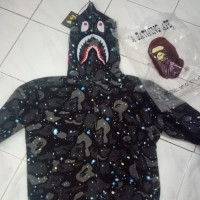 Unik hoodie bape shark space galaxi kw BUKAN KALENG Berkualitas