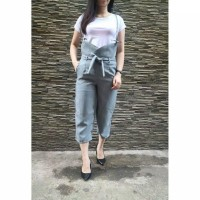 New Sale Jumpsuit Wanita Remaja Model Kekinian Polos Bahan Balotelli