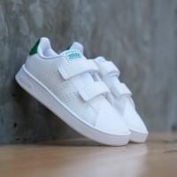 Sepatu Anak Original Adidas Neo Advantage Clear White Green Velkro/Per