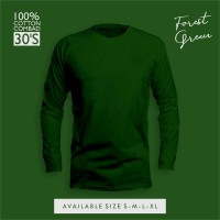 Baju Costum Design Sendiri | Kaos Polos Panjang Cotton Combed 30's