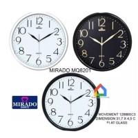 Jam Dinding Mirado MQ 8201 WH/BL/WB