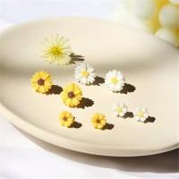 Anting Tusuk Bentuk Bunga Daisy Besar Putih
