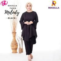 Tunik Melody by Rocella   Busana Muslimah - Atasan Trendy - Sunrise Orange, S-M