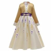 Kostum Princess Anak Anna Frozen II Dress Gaun Baju Perempuan Ultah