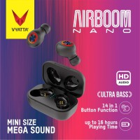 Airboom Nano TWS Bluetooth Earphone-Super Mini, 14in1 Function,Premium