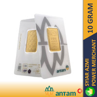 10 GR (GRAM) GOLDBAR/LOGAM MULIA/LM/EMAS ANTAM ASLI BERSERTIFIKAT