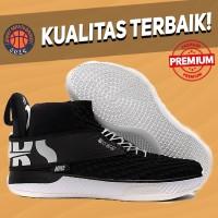 Sepatu Basket Sneakers Nike Air Zoom Unvrs Black White Pria Wanita