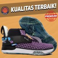 Sepatu Basket Sneakers Nike Air Zoom Unvrs Vivid Purple Black White