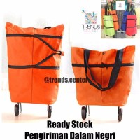 Tas Belanja Lipat Roda / Shopping Trolley Bag / Troli Bag murah