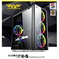 Casing Armaggeddon KAGAMI K5 Excellent Panoramic ATX Gaming Black