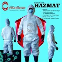 Baju Medis Coverall APD Disposable Hazmat Polypropylene Spunbond