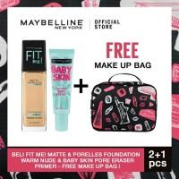 Special Maybelline Fit Me MPL Foundation & Baby Skin Pore Erase Primer