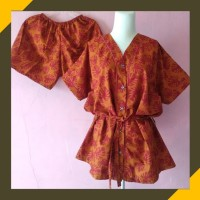 Baju Tidur Piyama Wanita Set Batik Kimono Celana Pendek Katun Murah