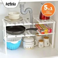 Angola E14 Rak Panci Bawah Wastafel Kitchen Rak Dapur Tempat Bumbu