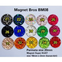 Magnet Bros BM08 size 20mm Asesoris Hijab Kerudung Pasmina Segiempat