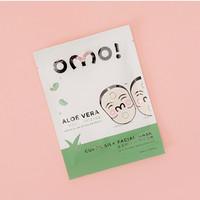 OMO! Cupra Silk Facial Mask Aloe vera (1pcs) Masker Wajah