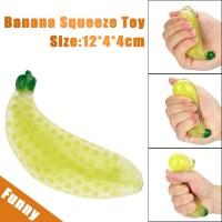 Mainan Squishy Bentuk Pisang Bahan Karet Ukuran 12cm Untuk Pereda