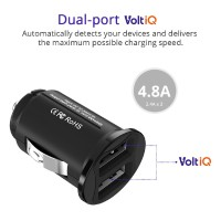 Tronsmart c24 Charger Dual Port USB 24W 12 / 24V dengan VoltiQ untuk