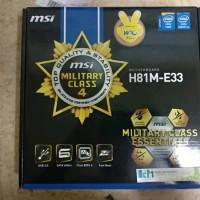 Motherboard MSI H81M-E33 LGA 1150 last stok