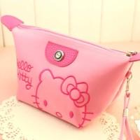 NEW Fashion Wanita: Handbag Kosmetik/Makeup Motif Hello Kitty Bahan
