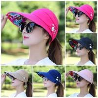 Topi Corona Visor Jalan Santai Olahraga Wanita Murah Import Korea