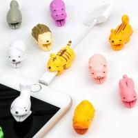 Cute Animal Bites Anti-Break USB Data Cable Protector Universal