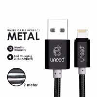 KABEL CHARGER LIGHTNING 2METER UNEED IPHONE 5 6 7 8 X CABLE USB FAST