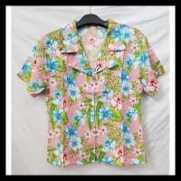 Fortklass Monalis Bunga Baju Atasan Kemeja Pastel Rayon Kantor Wanita