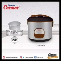 Cosmos Crj-9301 Magic Com / Rice Cooker 2 Liter Stainless Steel 3 In 1