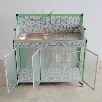 Terlaris !! Meja Cuci Piring Keramik + Alumunium Super Ready Stok