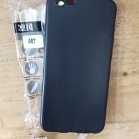 OPPO A57 Silikon Hitam Matte Soft Case Slim