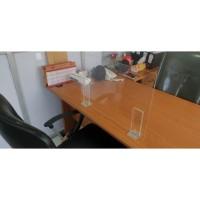 penghalang meja kantor ( siku ) / bahan 3mm ( uk 80 x 60cm ) ( type E