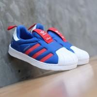 Sepatu Anak Adidas Original Superstar 360 Disney Blue Red White SlipOn
