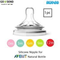 Silicone Nipple untuk Avent Philips Natural Dot Teat Botol