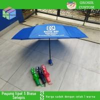 [pesanan sablon] payung lipat 3 selapis sablon 1 warna