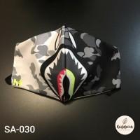 Masker Stylish –Bape Black White/ RedMocca / Lotto Cotton Combed