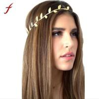 Mahkota / Hiasan / Bando Kepala Rambut Daun Emas Yunani Romawi