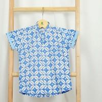 Pop Kidswear Wisnu Batik shirt - kemeja batik anak biru muda cap