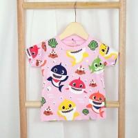 Kaos Baby Shark Pink 1-8 Tahun