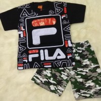 Baju Stelan Anak Laki 6-8thn Motif FILA