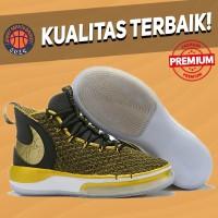 Sepatu Basket Sneakers Nike Alphadunk Black White Gold Hitam Emas Pria