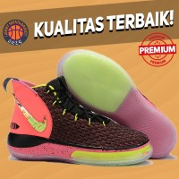Sepatu Basket Sneakers Nike Alphadunk Hoverboard Pink Black Gold Pria