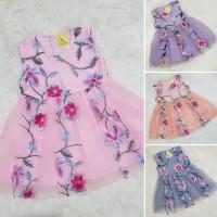 Baju Bayi Perempuan Dress Anak Tutu Brokat Bordir bunga