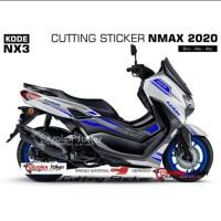 STRIPING NEW NMAX 2020 MOTOR PUTIH 3 PILIHAN WARNA STICKER